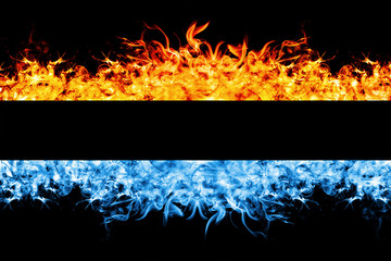 Red and blue fire frame.