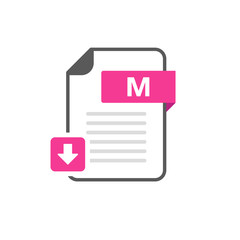 Download M file format, extension icon