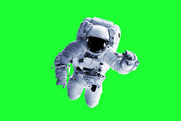 Green Screen Astronaut - Elements of this Image Furnished by nASA