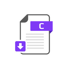 Download C file format, extension icon