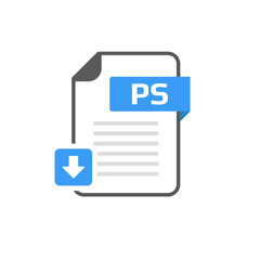 Download PS file format, extension icon