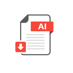 Download AI file format, extension icon