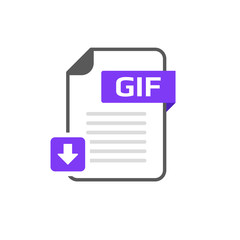 Download GIF file format, extension icon