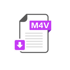 Download M4V file format, extension icon