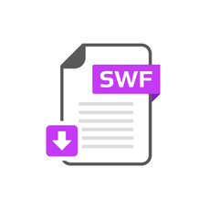 Download SWF file format, extension icon