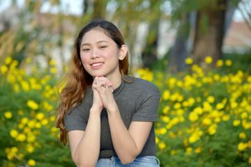Beautiful Filipina Woman Praying