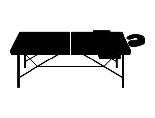 Portable and folding massage table - Vector