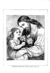Jesus blesses little children.
