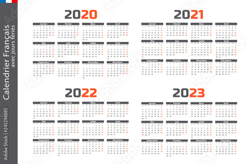 Calendrier 2022 2023 Jours Fériés Calendrier 2020, 2021, 2022, 2023 Wall Mural | Wallpaper Murals