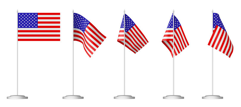Small table flag of United States set.