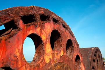 Rusty Iron Wheel