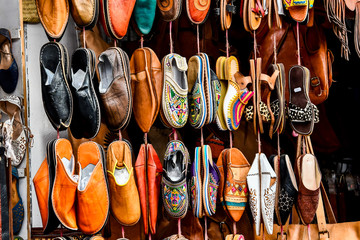 colorful shoes for sale, photo as background