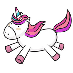 Cute baby unicorn cartoon