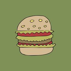 vector illustration of hamburger