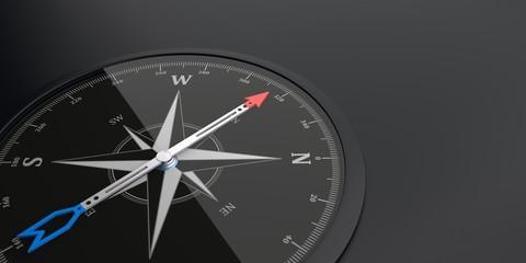 Schwarzer Kompass Pfeil Nach Oben