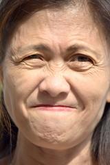 Female Senior Under Stress