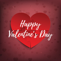 Happy Valentines Day banner, greeting card or brochure template.