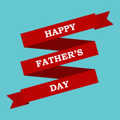 Red ribbon and the words happy father's day