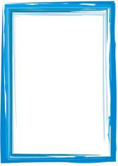 dekorativer blauer Rahmen mit Pinselstrichen