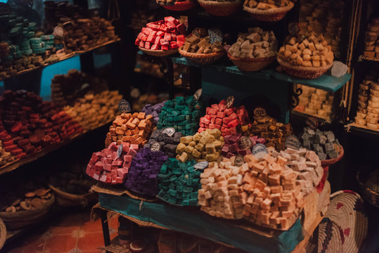 Shop with different sweets