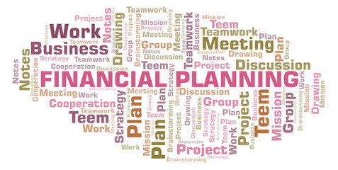 Financial Planning word cloud.