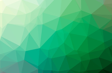 Illustration of abstract Green horizontal low poly background. Beautiful polygon design pattern. Wall mural