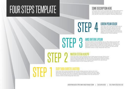 Infogrpahic steps diagram template