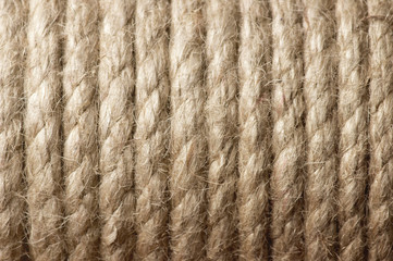 texture of the rows of packing twine,close-up.