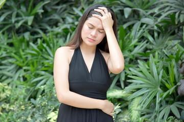 Attractive Filipina Woman And Stress