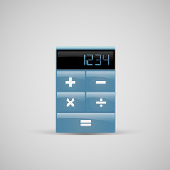 A realistic calculator icon, vector