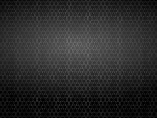 white outline hexagon background