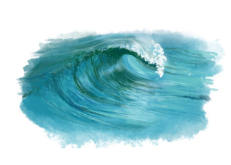 fala morska, oceaniczna, woda, turkus, wave,