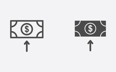 Money filled and outline vector icon sign symbol