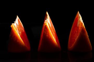 triple orange slice