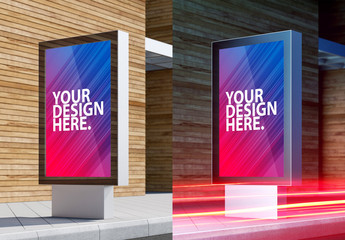 Outdoor Lightbox Mockup
