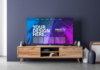 Smart TV on a Console Mockup