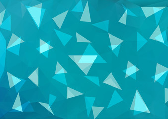 Multicolor polygonal illustration, which consists of triangles.