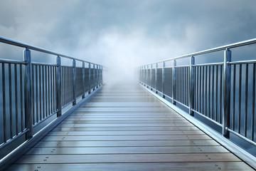 Brücke im Nebel Fototapete