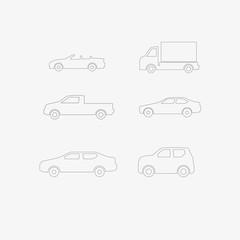 icons set cars