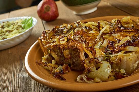 Caramelized Onion Smothered Pork Chops