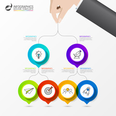 Infographic design template. Creative concept with 6 steps