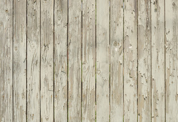 Wooden background with peeling white paint