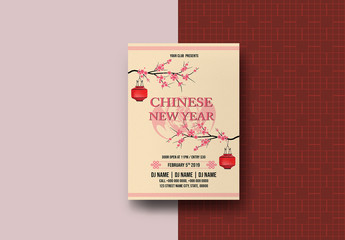 Chinese New Year Flyer Layout