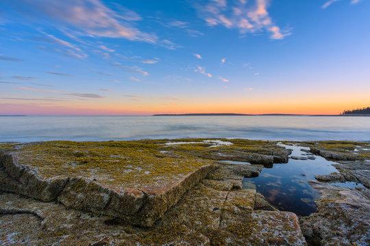 Acadia National Park Shoreline Sunset