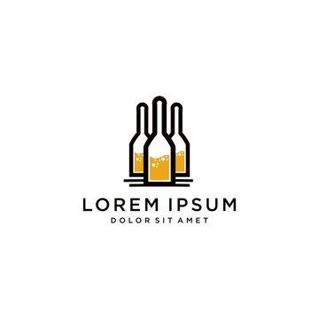 liquor store logo vector template