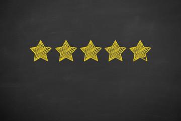 Customer Satisfaction Concepts on Chalkboard Background