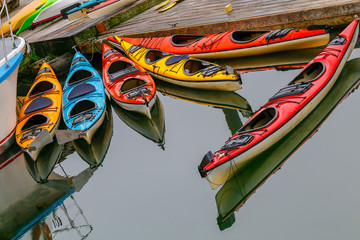 Kayaks on Ketchikan, Alaska