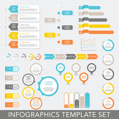Infographic Elements Set - Data Analysis, Charts, Graphs - vector EPS10