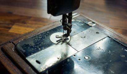 Very old retro sewing machine