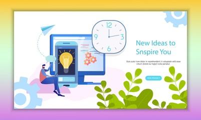 Time Management Analysis Inspiring Idea Banner